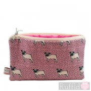 Dotty Pug Big Useful Purse by Poppy Treffry