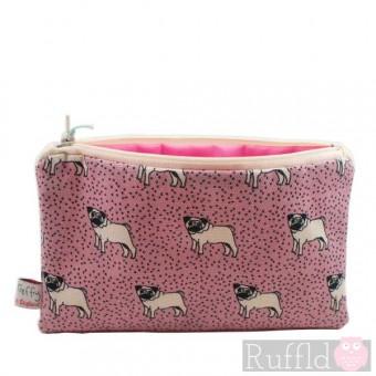 Dotty Pug Big Useful Purse by Poppy Treffry