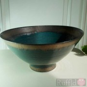 Porcelain Bowl in Dark Green by Richard Baxter
