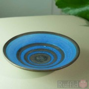Porcelain Tiny Bowl with Circles on Cobalt Blue by Richard Baxter