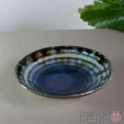 Porcelain Tiny Bowl in Blue/Brown by Richard Baxter