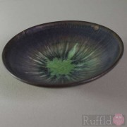 Porcelain Tiny Bowl with Green Starburst by Richard Baxter