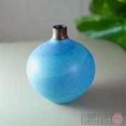 Porcelain Light Blue Swirl Bottle by Richard Baxter