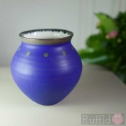 Porcelain Cobalt Blue Vase by Richard Baxter