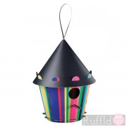 Recyclable Bird House - Cone Stripes