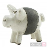 Ceramic Individually designed Pig in white and black
