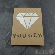 "Card - Silver ""You Gem"""