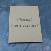 Card - Happy Anniversary (International Phonetic Alphabet)
