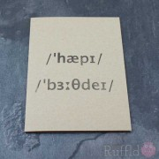 Card - Happy Birthday (International Phonetic Alphabet)