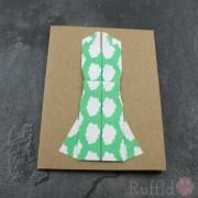 Card - Origami Dress