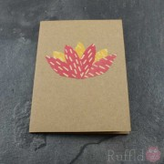 Card - Origami Lotus Flower