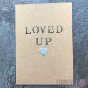 "Card - Small Silver Star ""Loved Up"""