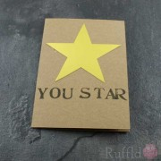 "Card - Gold ""You Star"""