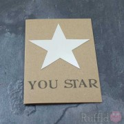 "Card - Silver ""You Star"""
