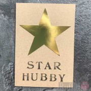 "Card - Gold Star ""Star Hubby"""