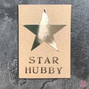"Card - Silver Star ""Star Hubby"""