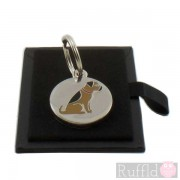 Dog ID Tag with Border Terrier Design by Sweet William