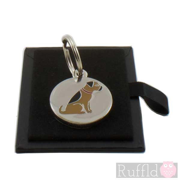 Dog id tag with border terrier design by sweet william sciox Choice Image