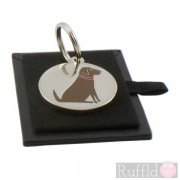 Dog ID Tag with Chocolate Labrador Design by Sweet William