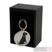 Dog ID Tag with Black Labrador Design by Sweet William