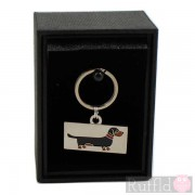 Dog ID Tag with Dachshund Design by Sweet William