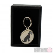 Dog ID Tag with Schnauzer Design by Sweet William