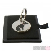 Dog ID Tag with French Bulldog Design by Sweet William