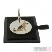 Dog ID Tag with German Shepherd Design by Sweet William