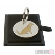 Dog ID Tag with Golden Retriever Design by Sweet William