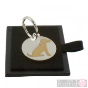 Dog ID Tag with Golden Cocker Spaniel Design by Sweet William