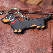 Dog Key Ring - Dachshund Design