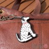 Dog Key Ring - Dalmation Design