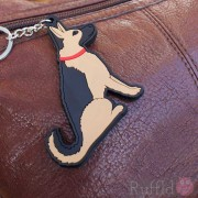 Dog Key Ring - German Shepherd Design