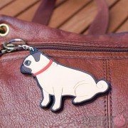 Dog Key Ring - Pug Design