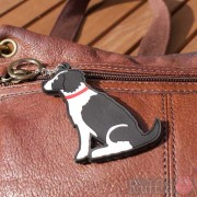 Dog Key Ring - Springer Spaniel (Black and White)  Design