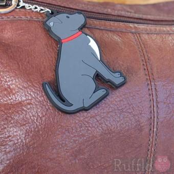 Dog Key Ring - Staffie Design