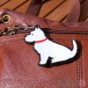Dog Key Ring - Westie Design