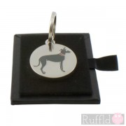 Dog ID Tag with Lurcher Design by Sweet William