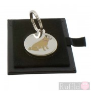 Dog ID Tag with Pug Design by Sweet William