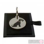 Dog ID Tag with  Black Schnauzer Design by Sweet William