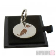 Dog ID Tag with Springer Spaniel Design by Sweet William