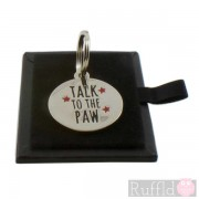 Dog ID Tag with Talk to the Paw Design by Sweet William