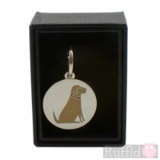 Dog ID Tag with Yellow Labrador Design by Sweet William