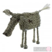Wire Knitted Small Cow Sculpture