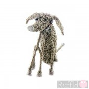 Wire Knitted Small Sitting Hound Sculpture